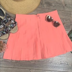 AMERICAN APPAREL pleated skirt coral peach size L